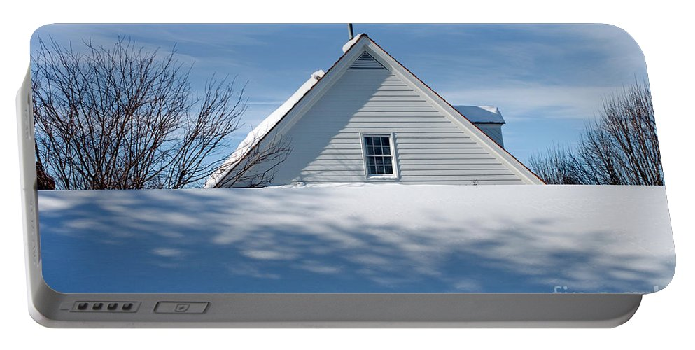 Snow Portable Battery Charger featuring the photograph After The Snowfall by Thomas Marchessault