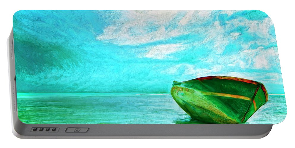 After The Storm Portable Battery Charger featuring the painting After The Storm by Dominic Piperata