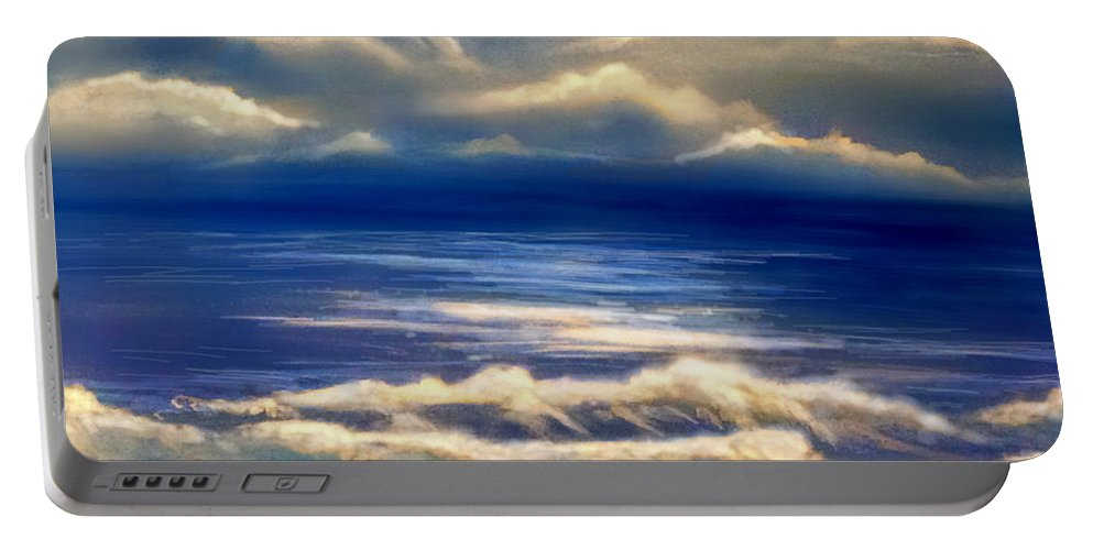 Storm Portable Battery Charger featuring the painting After The Storm by Veronica Castaneda