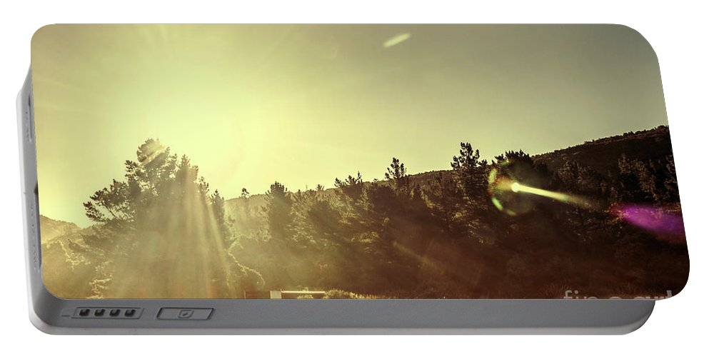 Sunlight Portable Battery Charger featuring the photograph Afterglow by Jorgo Photography - Wall Art Gallery