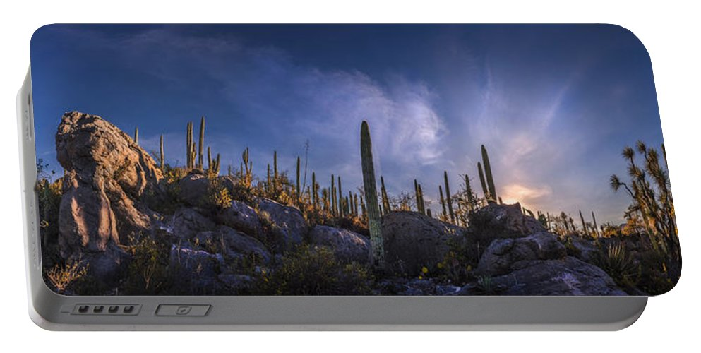 Fine Art Photography Portable Battery Charger featuring the photograph Afternoon Desert Scene by Luis Lyons