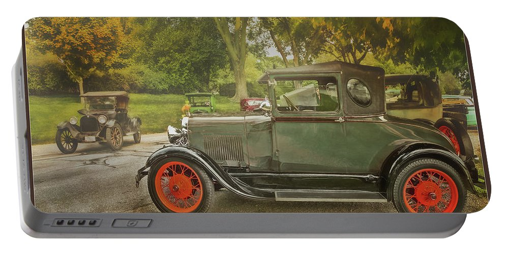 Cars Portable Battery Charger featuring the photograph Afternoon In The Park by John Anderson