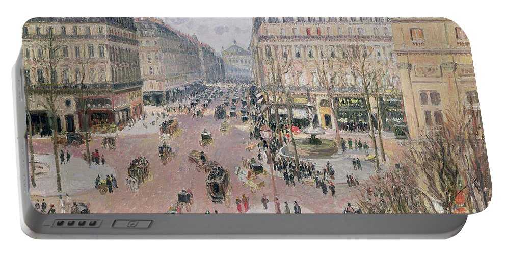Place Portable Battery Charger featuring the painting Afternoon Sun In Winter by Camille Pissarro