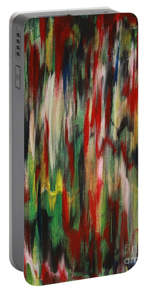 Abstract Portable Battery Charger featuring the painting Agony by Jacqueline Athmann
