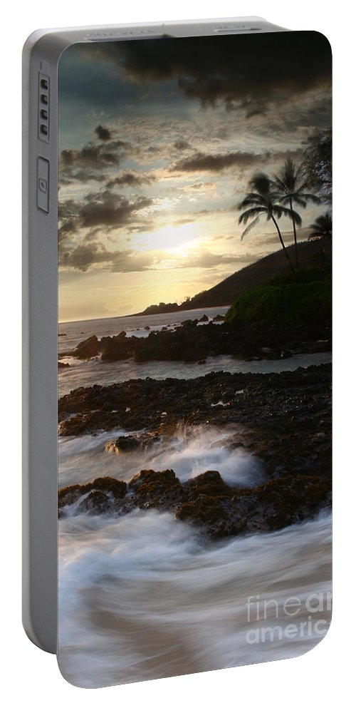 Aloha Portable Battery Charger featuring the photograph Ahe Lau Makani O Paako by Sharon Mau