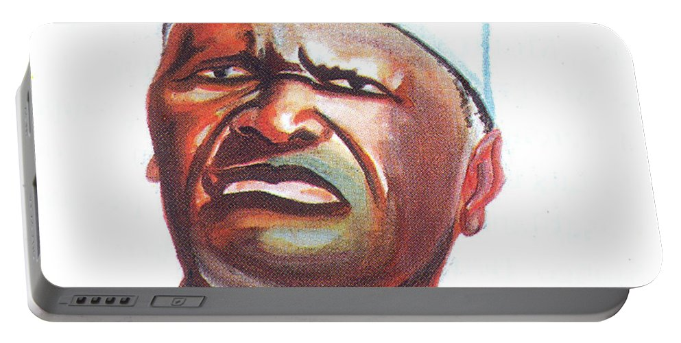Ahmed Sekou Toure Portable Battery Charger featuring the painting Ahmed Sekou Toure by Emmanuel Baliyanga