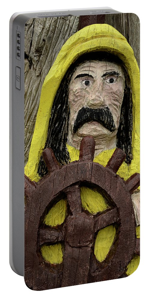 Fun Portable Battery Charger featuring the photograph Ahoy Mate by Bob Christopher