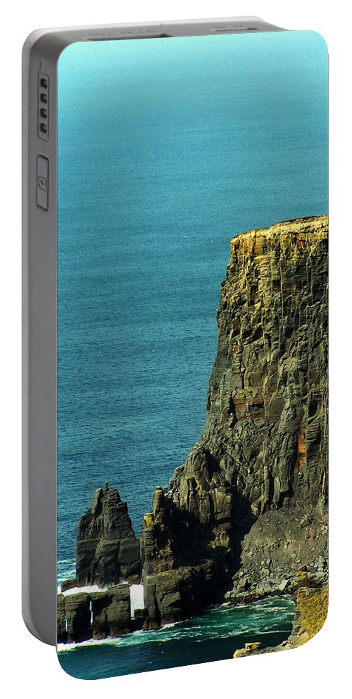 Irish Portable Battery Charger featuring the photograph Aill Na Searrach Cliffs Of Moher Ireland by Teresa Mucha