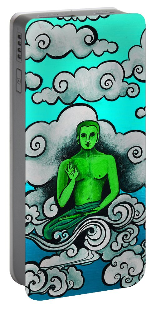 Air Element Portable Battery Charger featuring the painting Air Element by Stephen Humphries