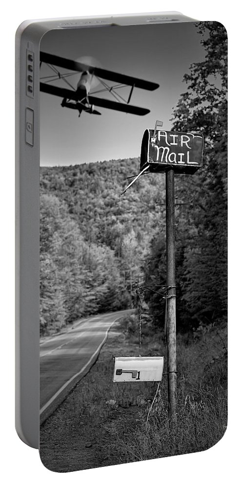 Landscape Portable Battery Charger featuring the photograph Air Mail Delivery Maine Style by Bob Orsillo