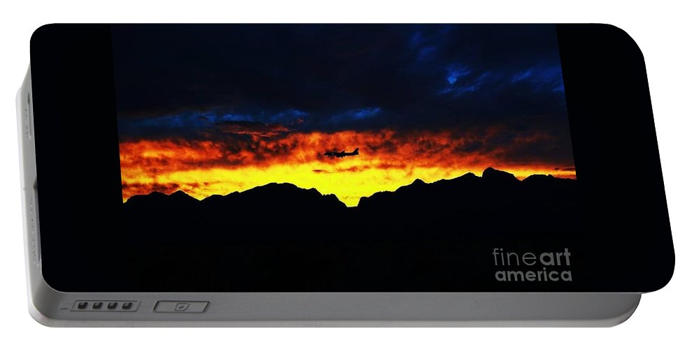 Landscape Portable Battery Charger featuring the photograph Airplane View by Sean Jungo