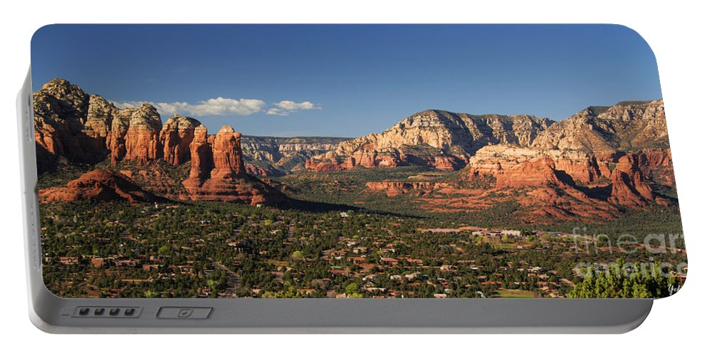 Airport Mesa Overlook At Sunset Portable Battery Charger featuring the photograph Airport Mesa Overlook At Sunset by Yefim Bam