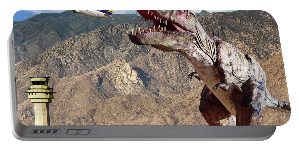 Dinosaur Portable Battery Charger featuring the photograph Airport Snack Bar Plane Food by William Dey