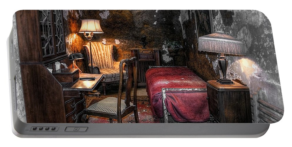 America Portable Battery Charger featuring the photograph Al Capone Cell by Svetlana Sewell