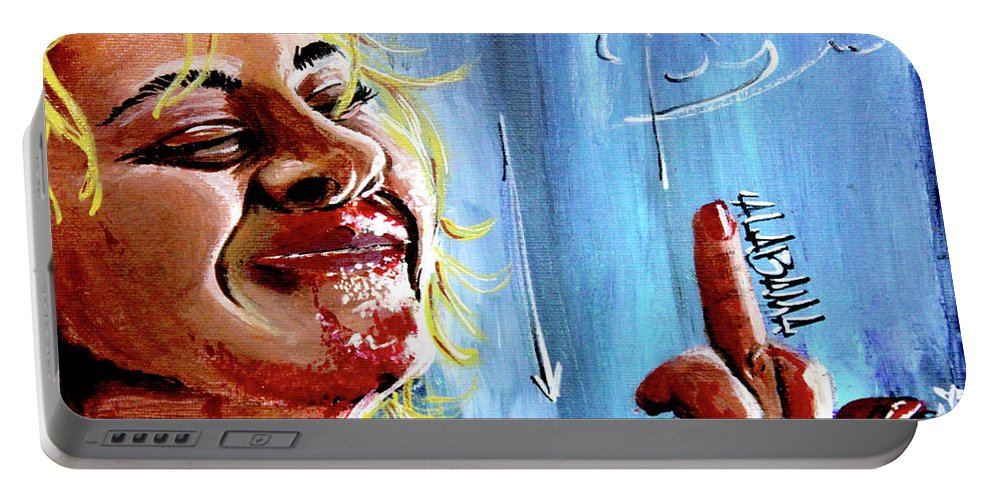 Films Portable Battery Charger featuring the painting Alabama by eVol i