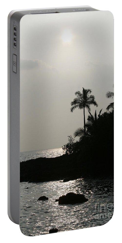 Aloha Portable Battery Charger featuring the photograph Alabaster Sunset Makena Landing Maui Hawaii by Sharon Mau