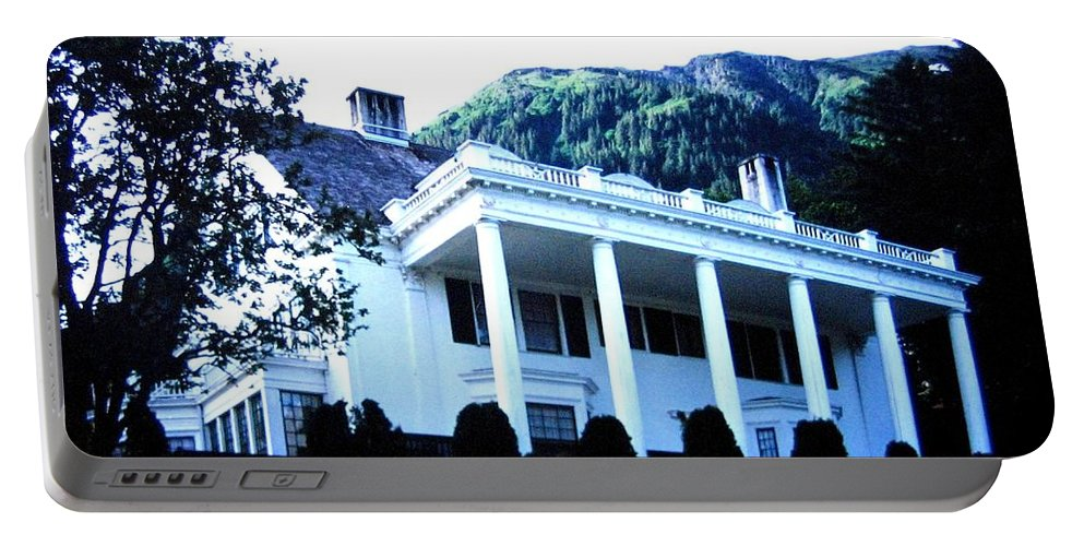 Alaska Portable Battery Charger featuring the photograph Alaska Governors Mansion by Will Borden