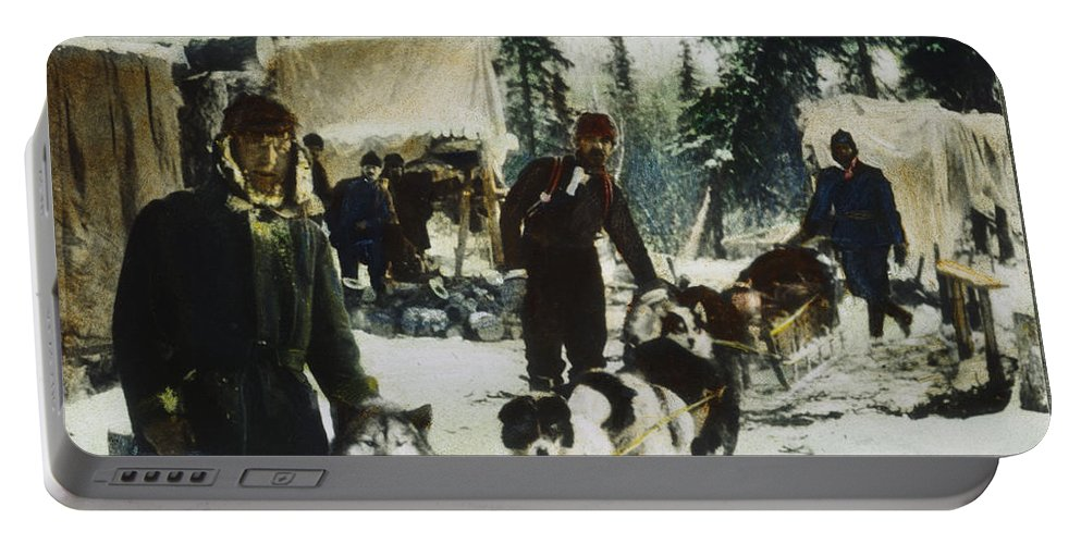 20th Century Portable Battery Charger featuring the painting Alaskan Dog Sled, C1900 by Granger
