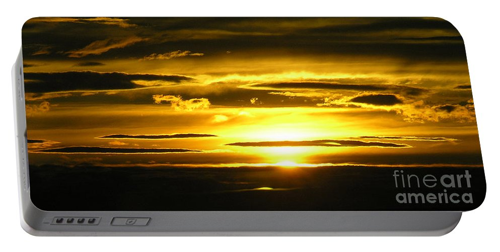 Sunset Portable Battery Charger featuring the photograph Alaskan Sunset by Louise Magno