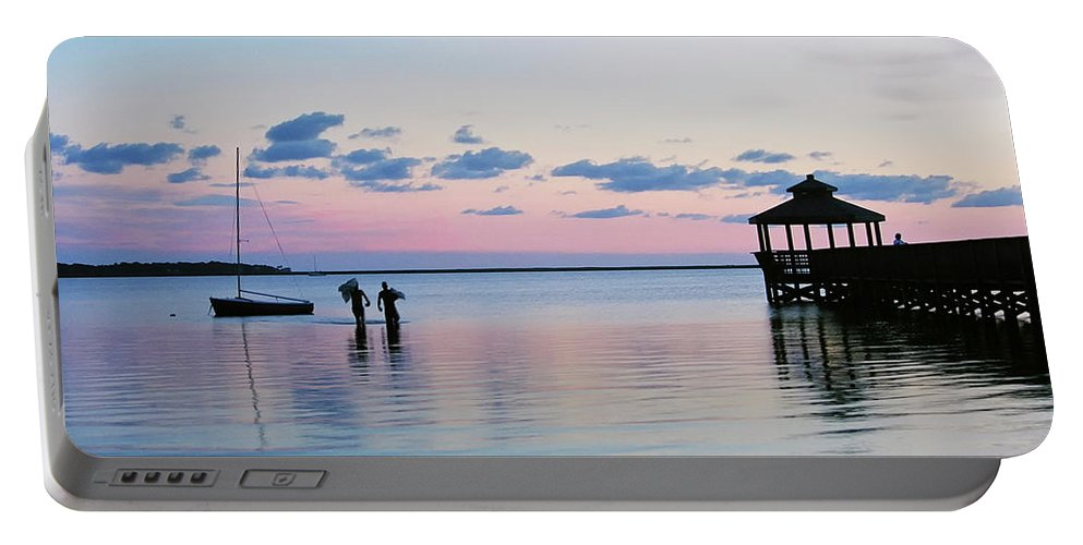 Sunset Portable Battery Charger featuring the photograph Outer Banks,nc,sunset by Marvin Averett