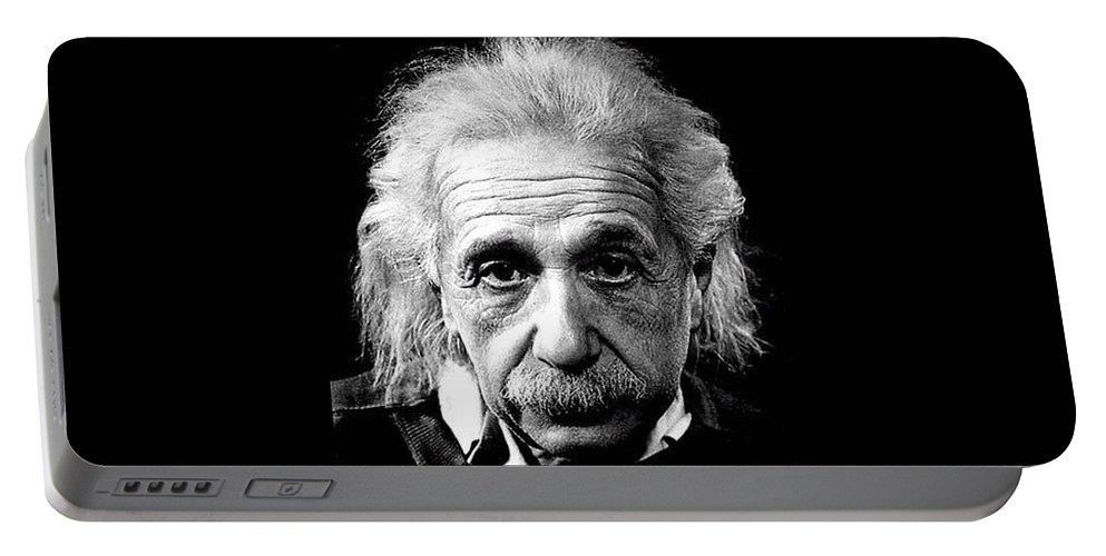 Albert Einstein Portable Battery Charger featuring the photograph Albert Einstein Circa 1952 by David Lee Guss