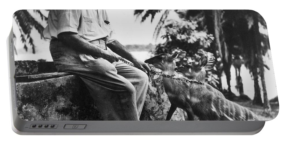 20th Century Portable Battery Charger featuring the photograph Albert Schweitzer by Granger