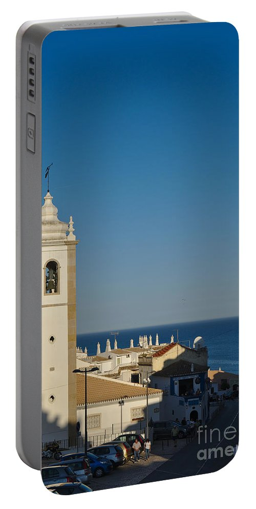 Albufeira Portable Battery Charger featuring the photograph Albufeira Streets by Angelo DeVal