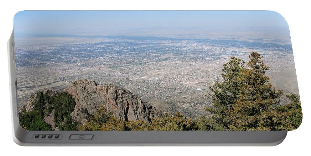 Albuquerque Portable Battery Charger featuring the photograph Albuquerque And The Rio Grande by David Lee Thompson