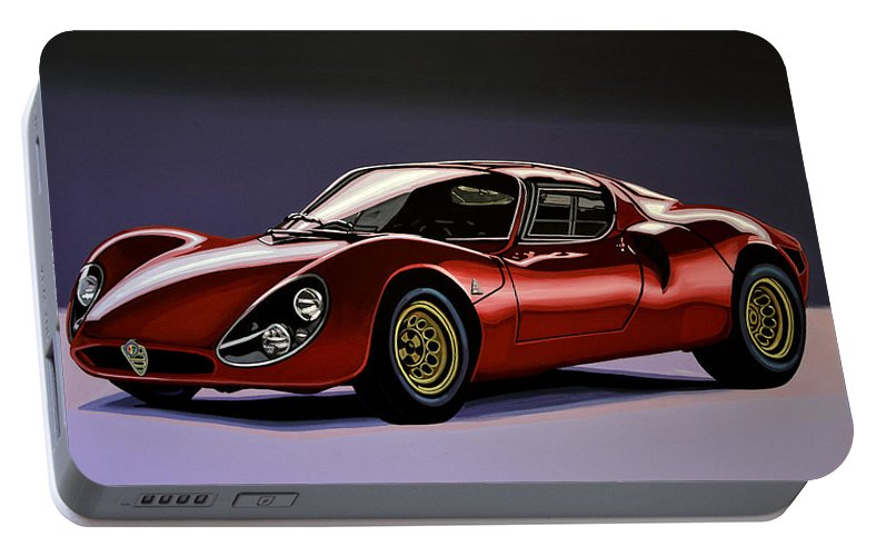 Alfa Romeo 33 Stradale 1967 Painting Portable Battery Charger