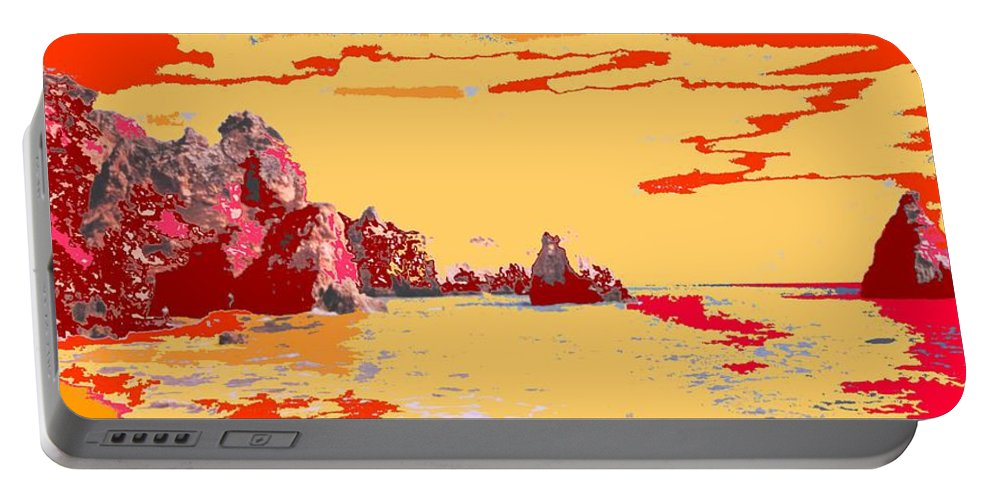 Mediterranean Portable Battery Charger featuring the photograph Algarve Sunrise by Ian MacDonald