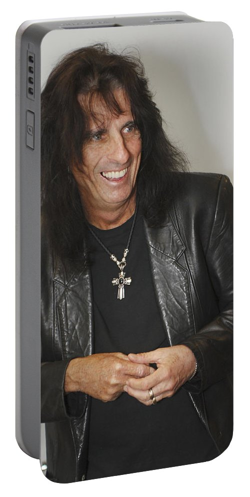 Alice Cooper Portable Battery Charger featuring the photograph Alice Cooper Happy by Jill Reger