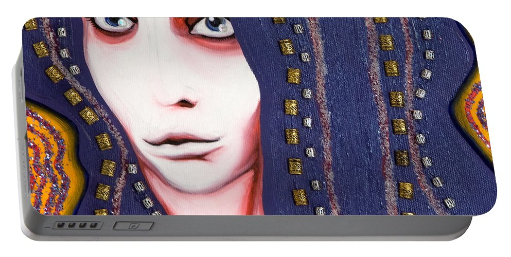 Woman Portable Battery Charger featuring the painting Alice by Sheridan Furrer