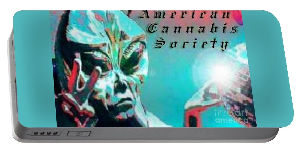 Alien Portable Battery Charger featuring the digital art Alien by Michelle S White