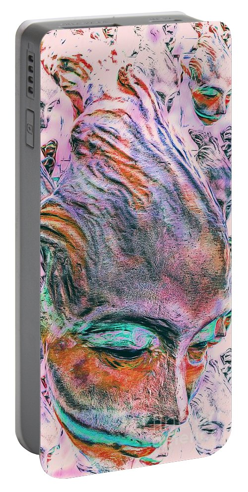 Conceptionable Portable Battery Charger featuring the digital art Alien Re Entry by Ian Gledhill