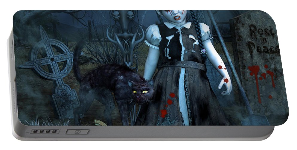 3d Portable Battery Charger featuring the digital art Alive Or Undead by Jutta Maria Pusl