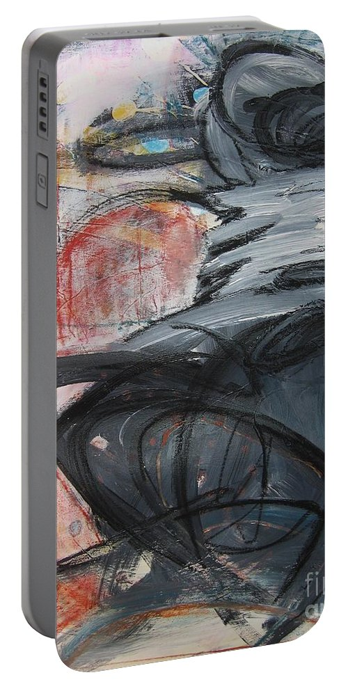 Abstract Paintings Paintings Portable Battery Charger featuring the painting All Alone by Seon-Jeong Kim