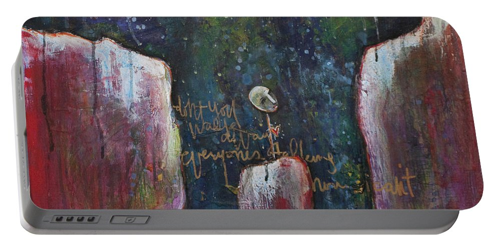 Lollipop Art Portable Battery Charger featuring the painting All I Wanted by Laurie Maves ART