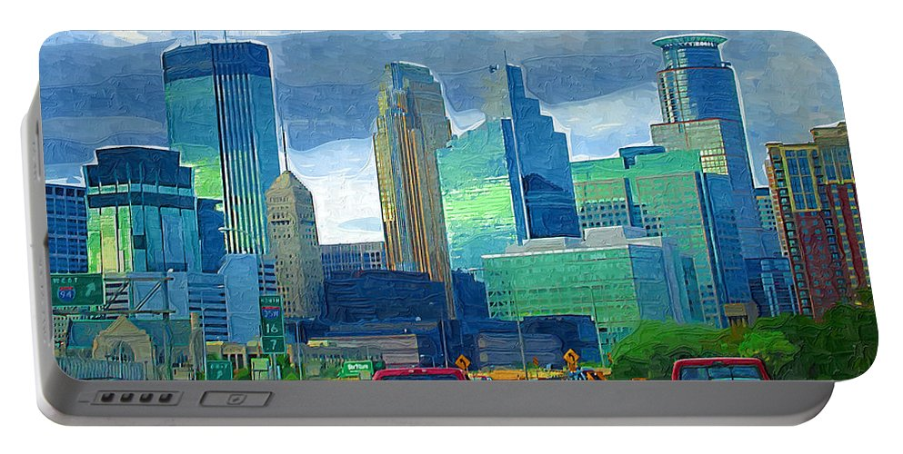 Minneapolis Portable Battery Charger featuring the photograph All Roads Lead To Minneapolis by Tom Reynen