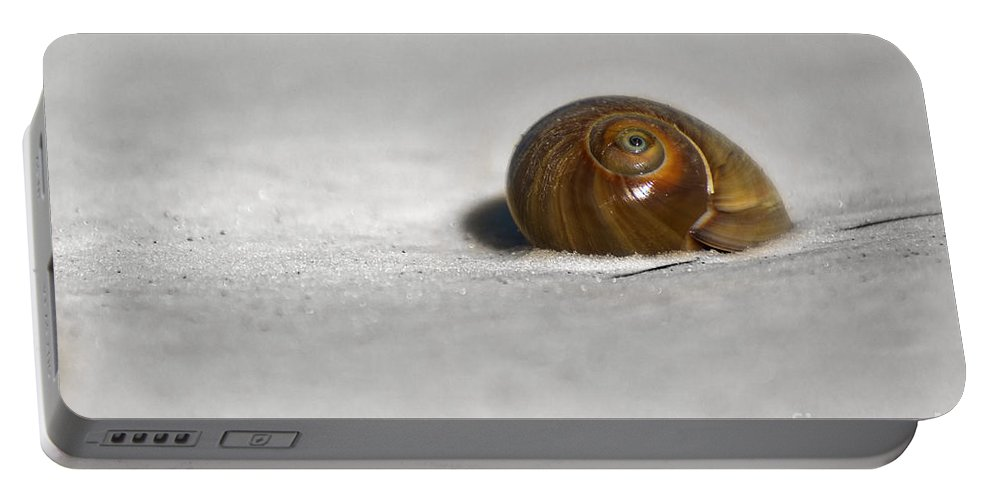 This Scene Was Discovered As I Walked Along The Beaches Of Florida. Undisturbed And Washed On Shore Portable Battery Charger featuring the photograph All Sea Eye by James Hennis
