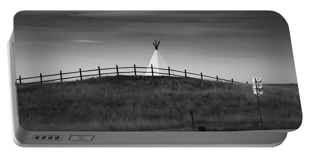 Teepee Portable Battery Charger featuring the photograph All That Remains by Jonas Ogrefoln