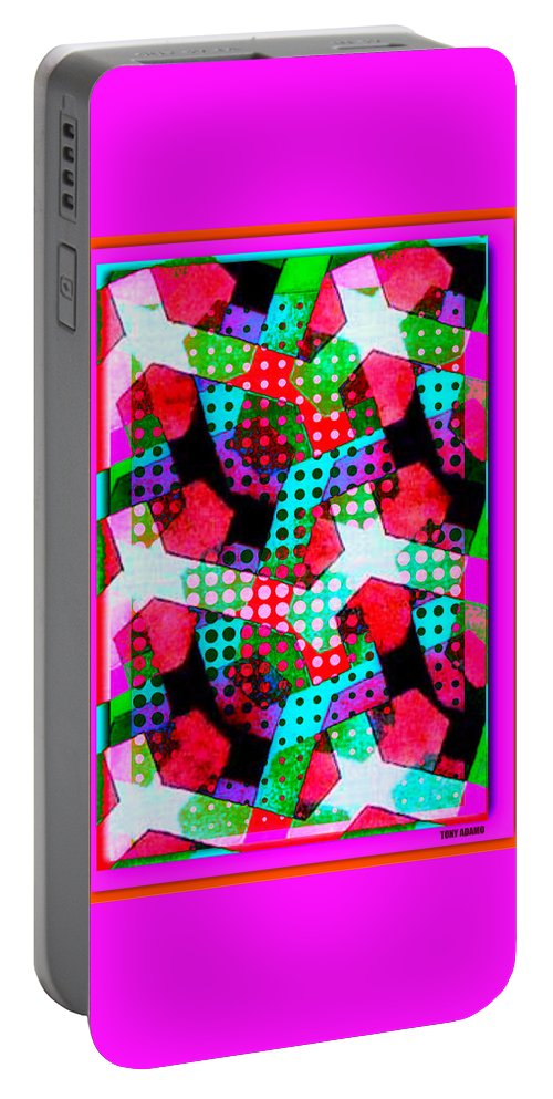 All Units... A Melon Disturbance In Sector 49 Portable Battery Charger featuring the digital art All Units... A Melon Disturbance In Sector 49 by Tony Adamo