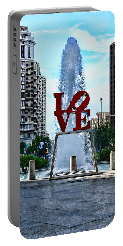 Love Park Portable Battery Charger featuring the photograph All You Need Is Love by Paul Ward