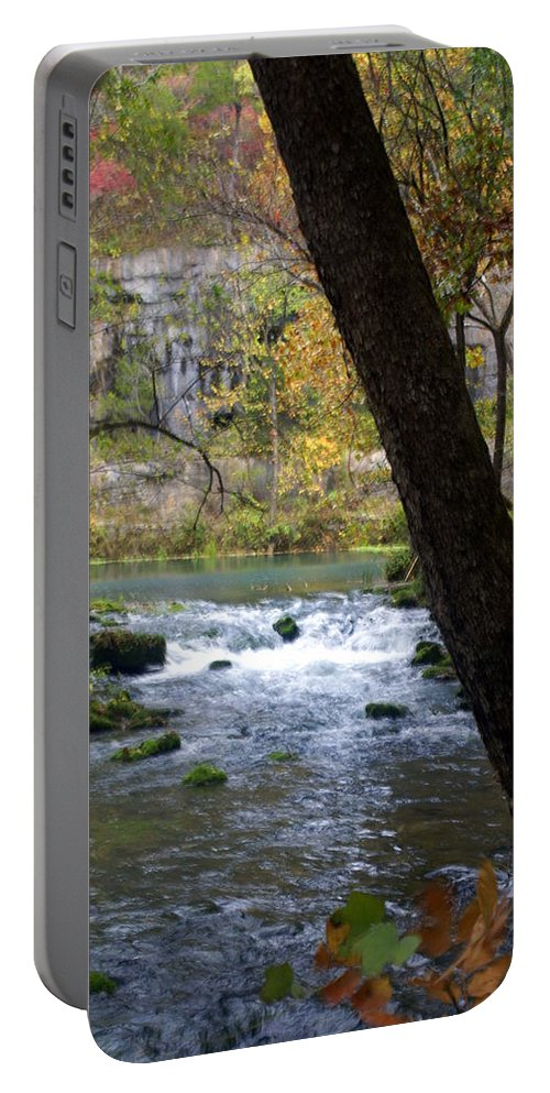 Ozarks Portable Battery Charger featuring the photograph Alley Spring Branch 2 by Marty Koch
