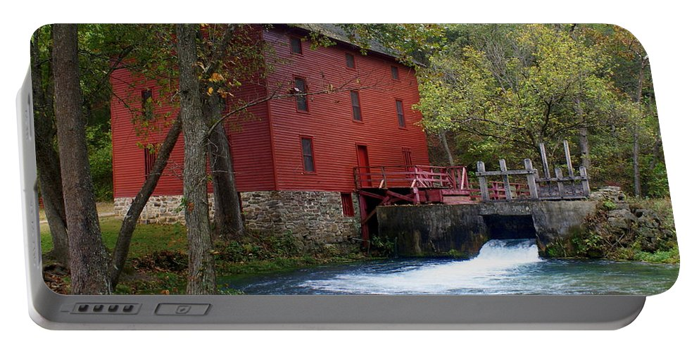 Ozarks Portable Battery Charger featuring the photograph Alley Sprng Mill 3 by Marty Koch