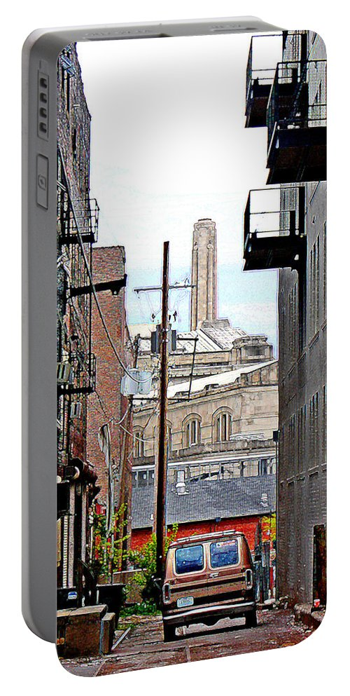 Cityscape Portable Battery Charger featuring the photograph Alley by Steve Karol