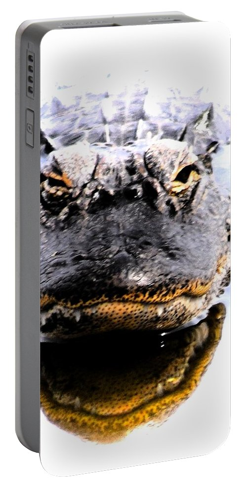 Alligator Portable Battery Charger featuring the photograph Alligator Fangs 2 by Sheri McLeroy