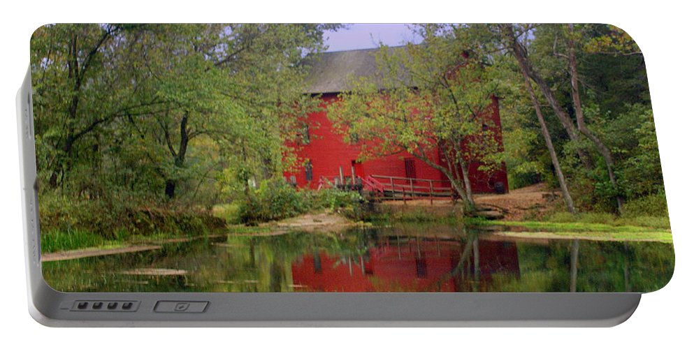 Alley Spring Portable Battery Charger featuring the photograph Allsy Sprng Mill 2 by Marty Koch