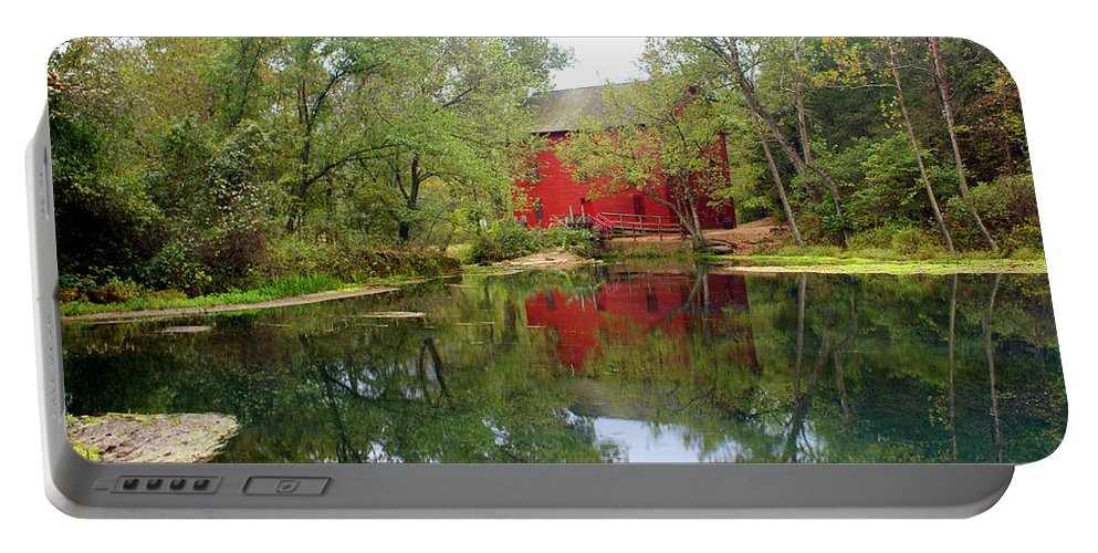 Mill Portable Battery Charger featuring the photograph Allsy Sprng Mill by Marty Koch