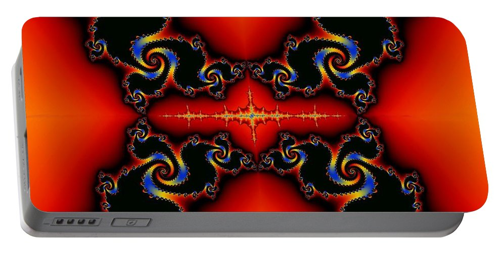 Almond Portable Battery Charger featuring the digital art Almond Apples Reworked by Helmut Rottler