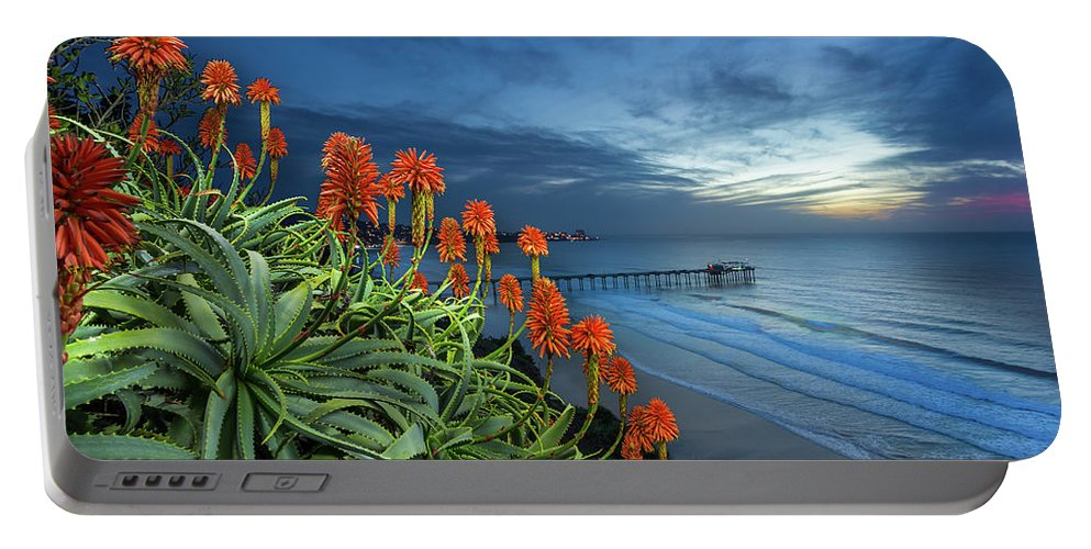 Green Portable Battery Charger featuring the photograph Aloe Vera Bloom by Creigh Photography